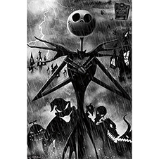 Nightmare Before Christmas Poster Shadow